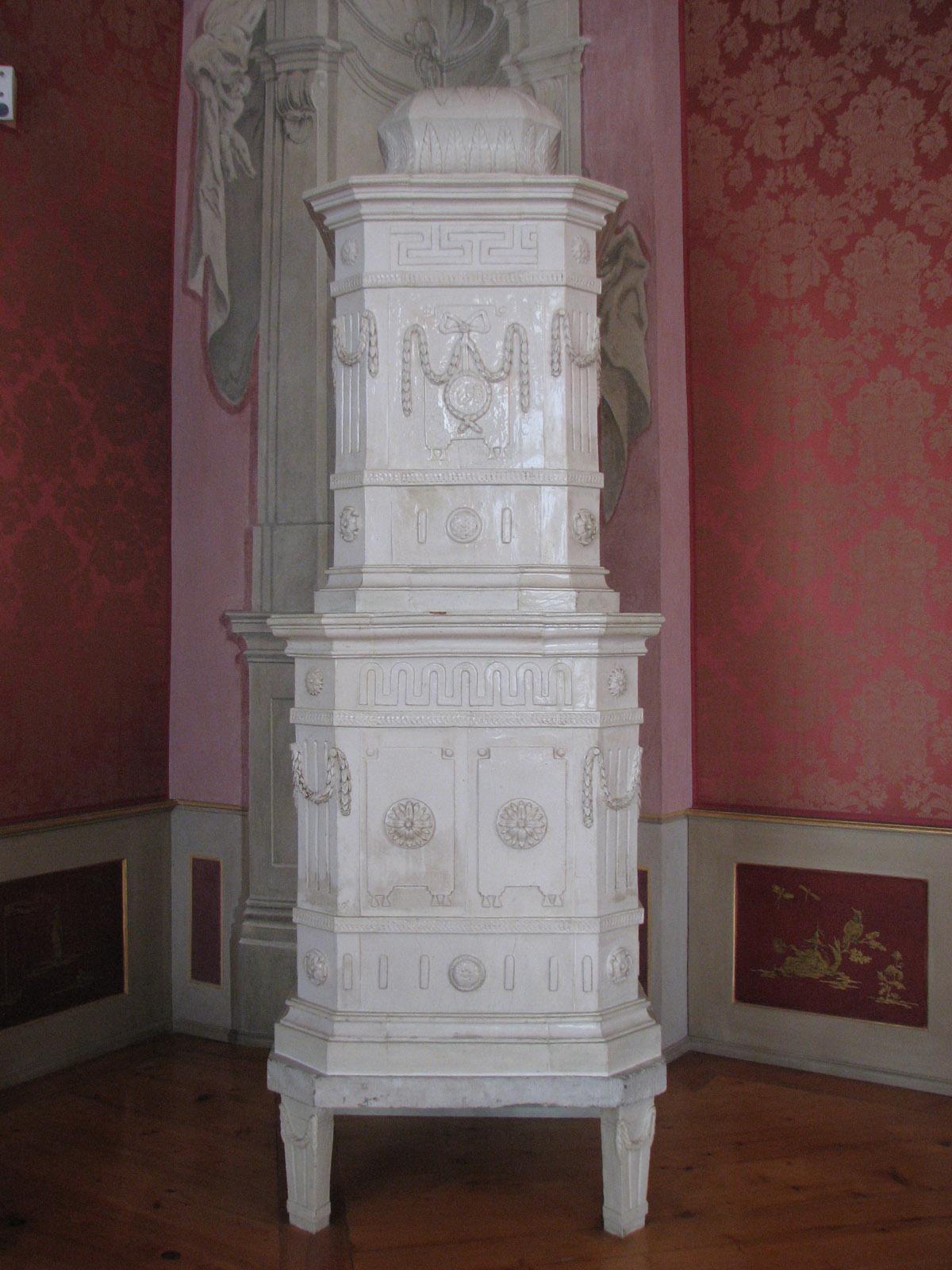Ofen im Audienzzimer im Neuen Schloss Tettnang; Foto: Staatliche Schlösser und Gärten Baden-Württemberg, Katharina Dietz