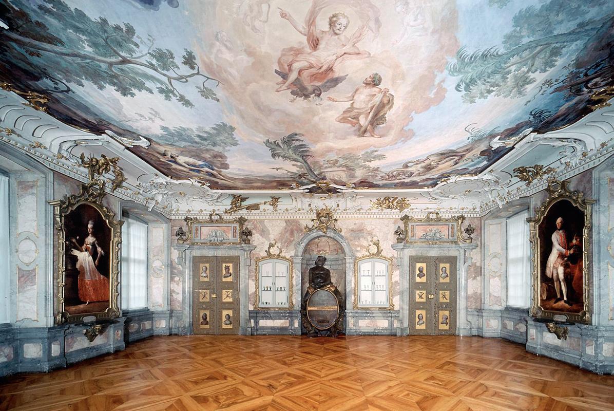 Bacchussaal im Neuen Schloss Tettnang; Foto: Staatliche Schlösser und Gärten Baden-Württemberg, Arnim Weischer
