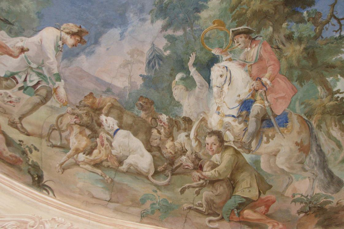 Detail eines Fresko von Andreas Brugger