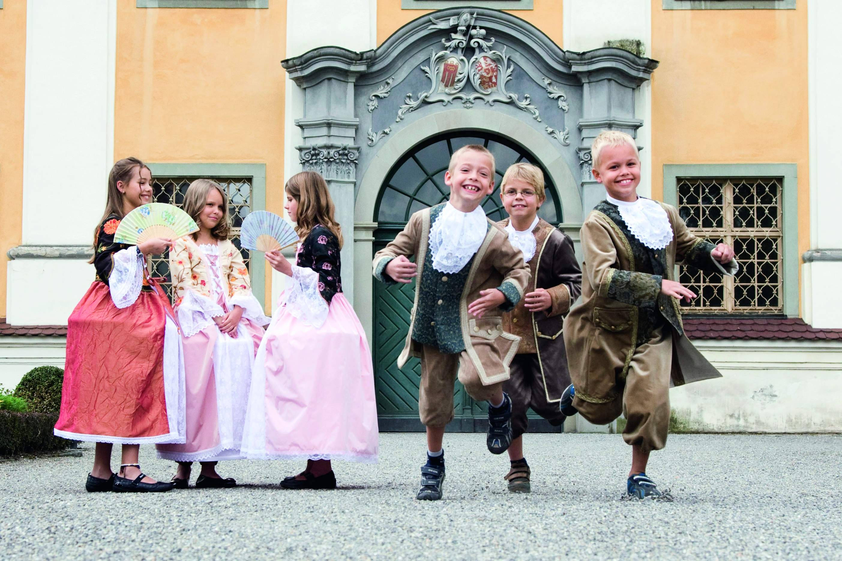 Kinder im Schloss Tettnang
