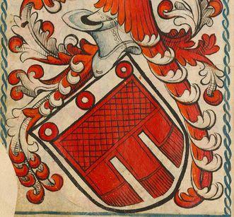 Details aus dem Wappen von Montfort aus dem Scheiblerschen Wappenbuch; Foto: Wikipedia, gemeinfrei