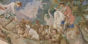 Detail eines Freskos von Andreas Brugger