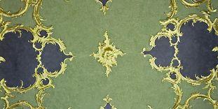Detail der Decke mit Stuck im Neuen Schloss Tettnang
