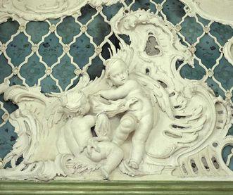 Detail des Grünen Kabinetts im Neuen Schloss Tettnang; Fotos: Staatliche Schlösser und Gärten Baden-Württemberg, Arnim Weischer