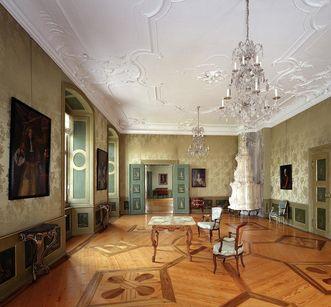 Erstes Grünes Zimmer im Neuen Schloss Tettnang