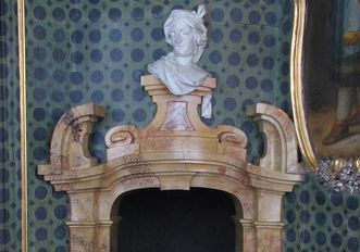 Kamin im Vagantenkabinett im Neuen Schloss Tettnang