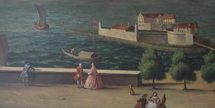 Detail eines Bilder im Flur im Neuen Schloss Tettnang