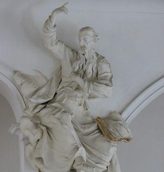 Stuckfigur des Propheten Habukuk von Johann Caspar Gigl