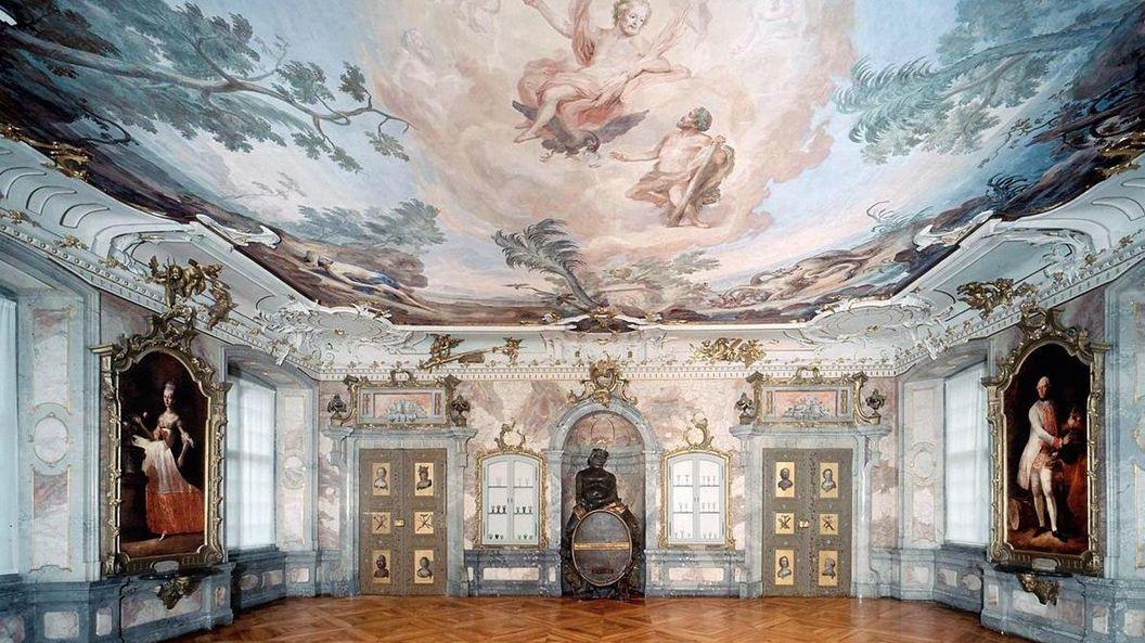 Nouveau Château de Tettnang, salon Bacchus