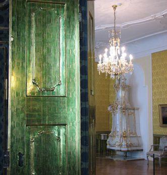 Türen und Lüster des Fürstenzimmer im Neuen Schloss Tettnang
