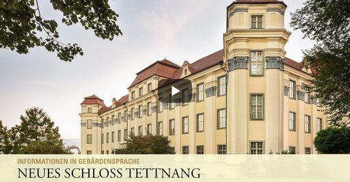 """Startbildschirm des Filmes """"Neues Schloss Tettnang: Informationen in Gebärdensprache"""""""