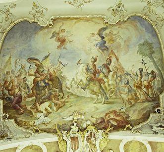 Johannes von Montfort als Kreuzritter gegen die Türken von Andras Brugger, 1770